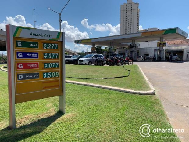Em queda, preço do etanol já reduziu 7% desde o início do ano em postos de Cuiabá