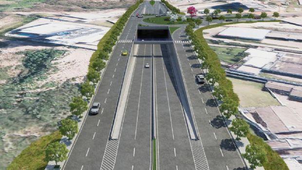 Imagens em 3D mostram como será  futura trincheira de 365 metros que dá acesso à Guia