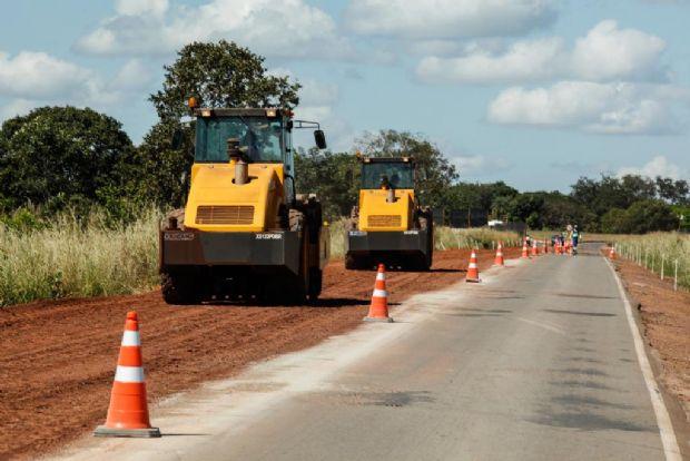 Reconstrução da MT-246 recebe R$ 30 mi em investimento; obras começaram em ritmo acelerado