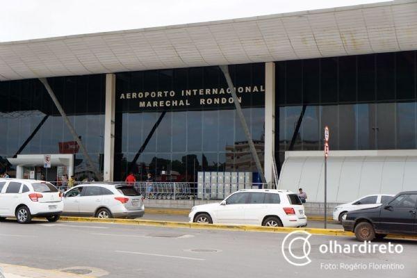 Aeroporto de Cuiabá movimenta mais de 100 toneladas de cargas em 2018