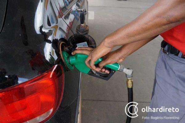 Litro da gasolina sobe R$ 0,12 em Mato Grosso em uma semana; etanol R$ 0,14