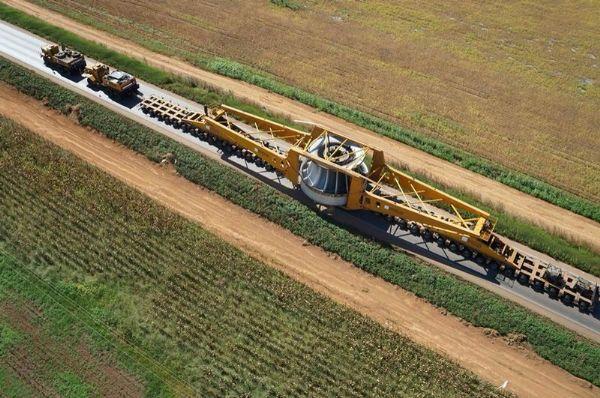 Último rotor da Usina Teles Pires está em deslocamento pela BR-163 em Mato Grosso