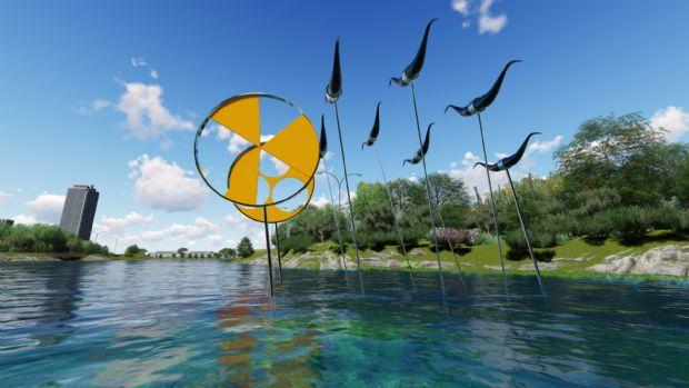Escultura de Humberto Espíndola em homenagem a Cuiabá é feita para ambiente aquático