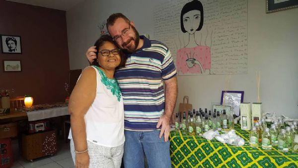 Ricardo e sua esposa Claudia