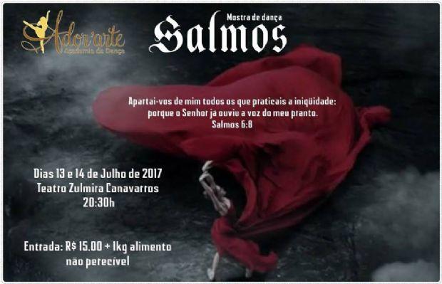 Academia de dança realiza espetáculo transformando os 'Salmos' em coreografias