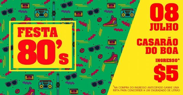 Festa anos 80 em Cuiabá arrecada fundos para a pós-produção de curta metragem