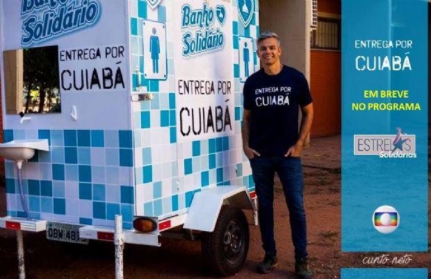 Projeto 'Banho Solidário' de Cuiabá é apresentado no programa Estrelas como exemplo de solidariedade