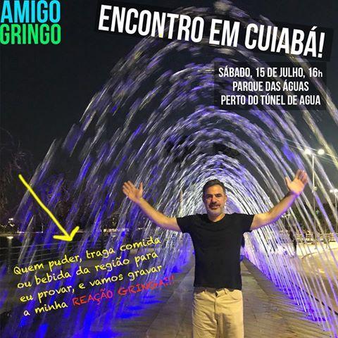 Amigo Gringo gravará vídeo experimentando comidas típicas cuiabana; americano escolheu Parque das Águas