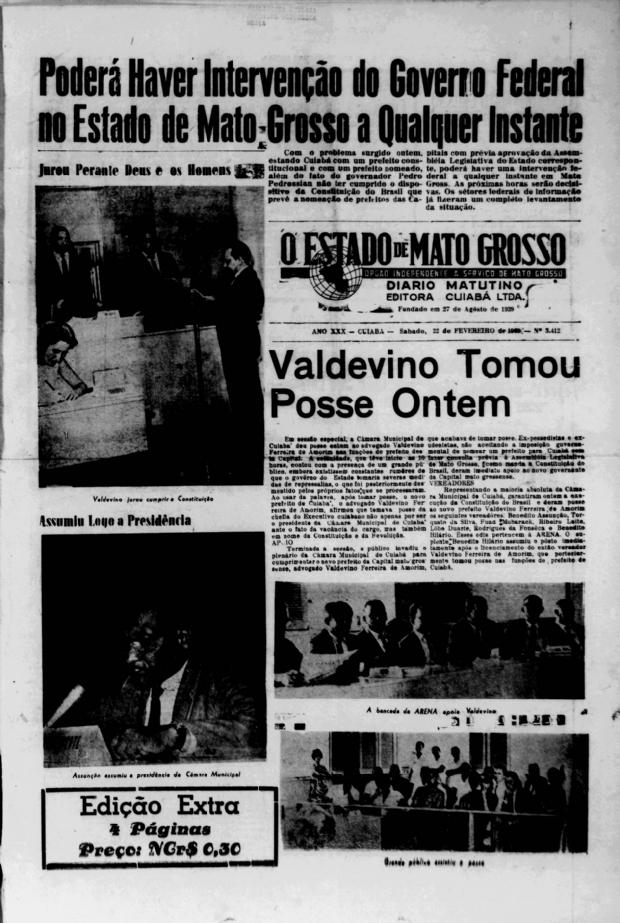 Às vésperas dos 250 anos, Cuiabá teve dois prefeitos ao mesmo tempo: você conhece essa história?