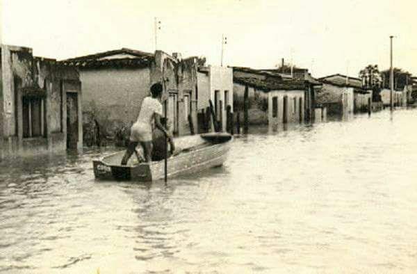 Enchentes de 74 completa 43 anos com cidade e rio mudados; Veja fotos