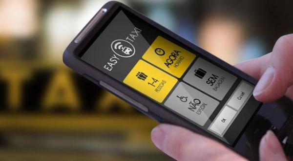 Aplicativo chama táxi, acompanha corrida e dá informações sobre motorista