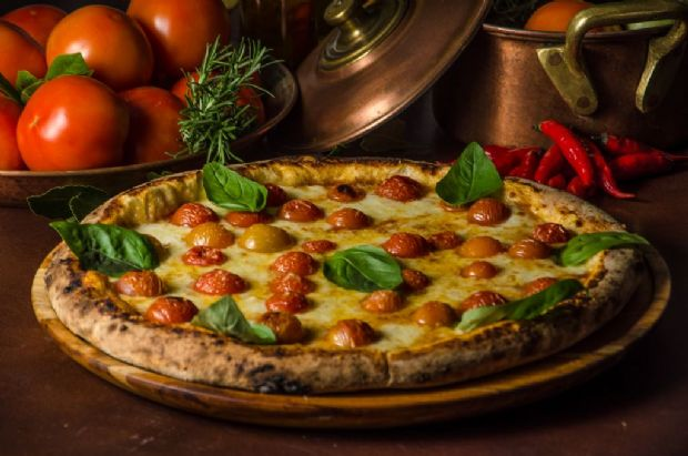Pizza de marguerita é o prato principal