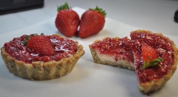 Cheesecake de morango 'fit'