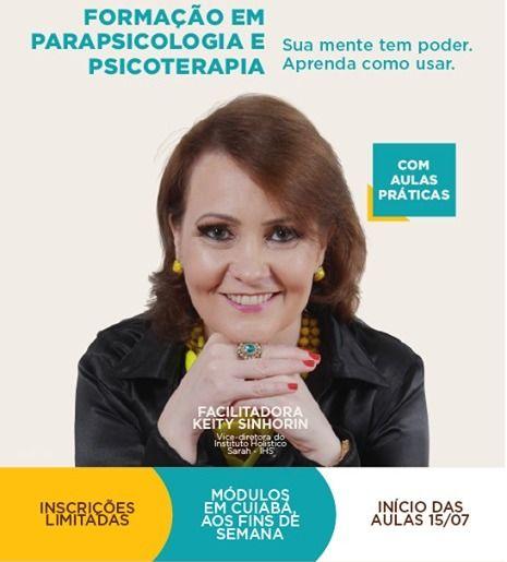 Chega a Cuiabá curso de formação em Parapsicologia e Psicoterapia ministrado por Instituto Paranaense
