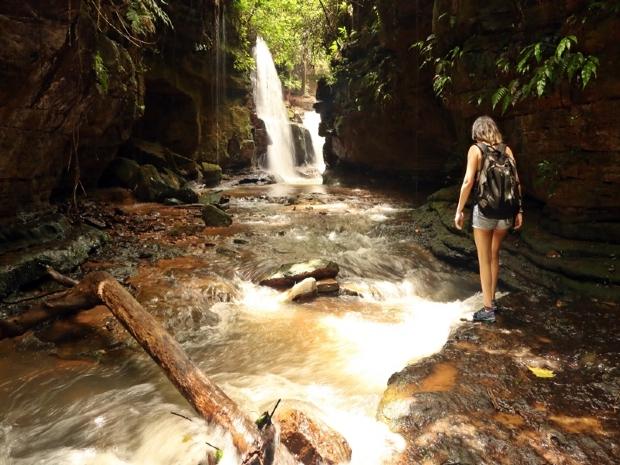 Cachoeira na trilha 'Vale do Jamacá'