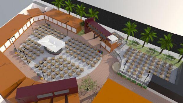 Food Park em frente à Arena abre as portas em breve; poucas unidades disponíveis