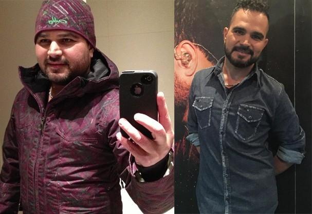 Antes e depois do Luciano