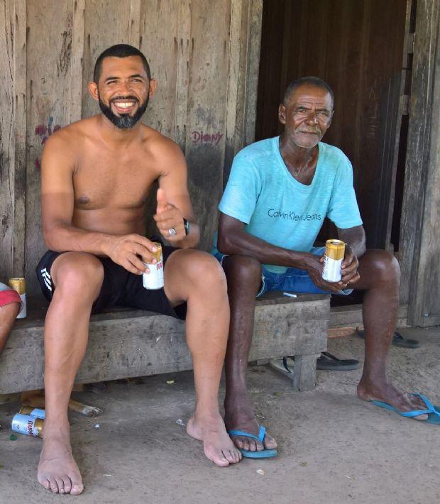 Rui e o pai, após 30 anos de separação, se encontraram no Pará
