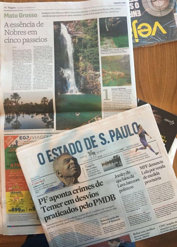 Nobres, Chapada e Manso são destaque em matéria de quatro páginas no Estadão