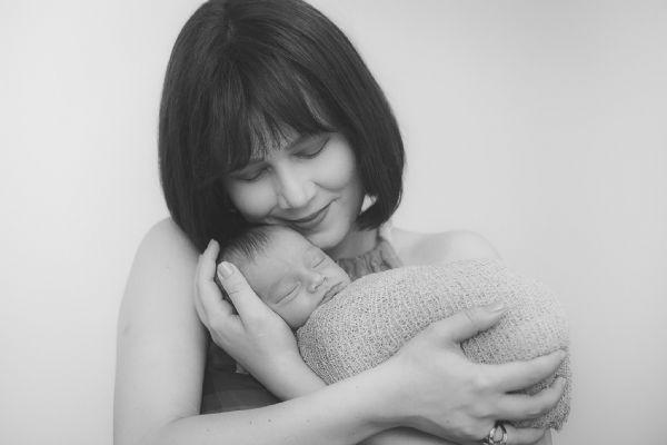 Michelle e seu filho Vinícius