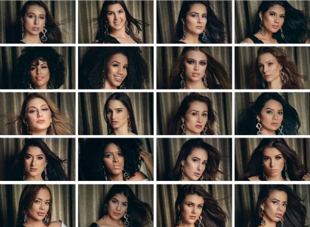 Vinte candidatas disputam o título de 'Miss Mato Grosso' nesta quinta-feira