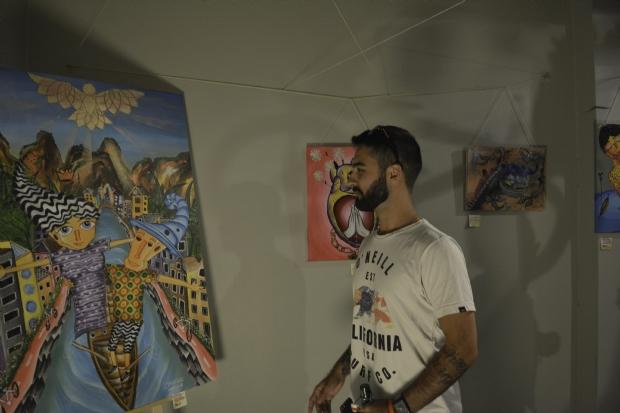 Artista mato-grossense expõe em Amsterdam e homenageia o 'pintor das onças'