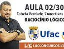 Concurso UFAC 2016 - Tabela Verdade - Conectivos E-OU