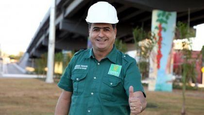 Emanuel diz que novo viaduto ajuda a criar 'Cuiabá futurística'' com beleza e melhoria no trânsito (Crédito: Divulgação)