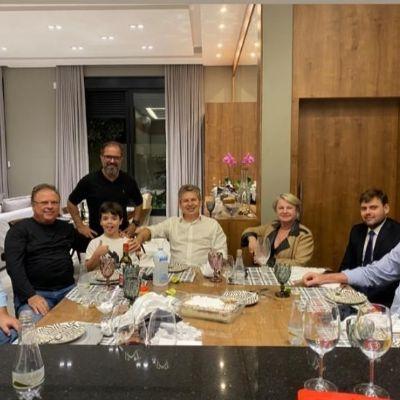 Reunião de articulação política une Mauro Mendes e representantes do PP e PSD na casa de Paulo Araújo