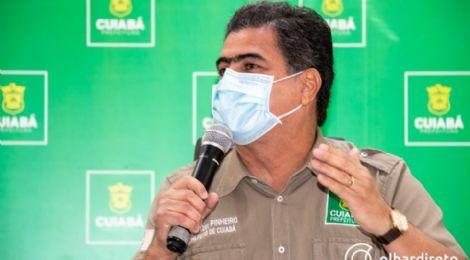 """Emanuel afirma receber pedidos de todo o país pela vacina; """"poderia abraçar o Brasil, mas a segunda dose é dos cuiabanos"""""""