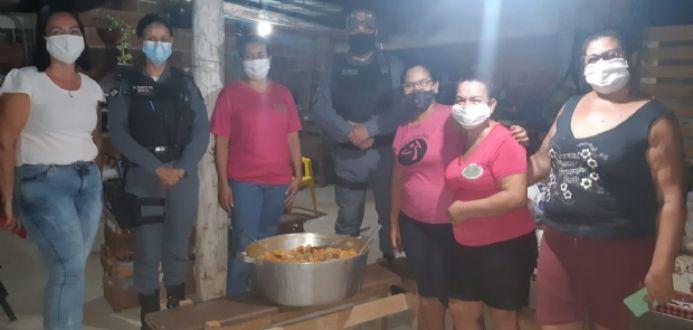 Projeto da Polícia Militar entrega sopa para famílias carentes de Cuiabá