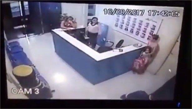 Câmeras flagram crianças, mães e funcionários sendo rendidos durante assalto a colégio particular de Cuiabá;  veja