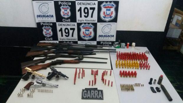 Operação apreende arma banhada a ouro e mais de 300 munições em Matupá