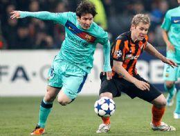 Com recorde de Messi, Barça vence outra e 'esfria' despedida do Shakhtar