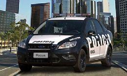 Ford mostra Focus 'policial' em evento