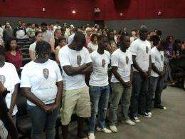 Estudantes da Guiné-Bissau participam de ato na UFMT
