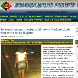 Homem diz que descobriu que prostituta que contratou era sua própria filha.