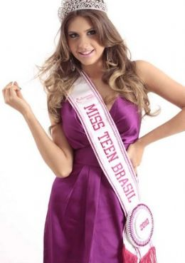 A alagoana Gabriele Marinho, 17 anos, vencedorado Miss Teen World foi também Miss Teen Brasil