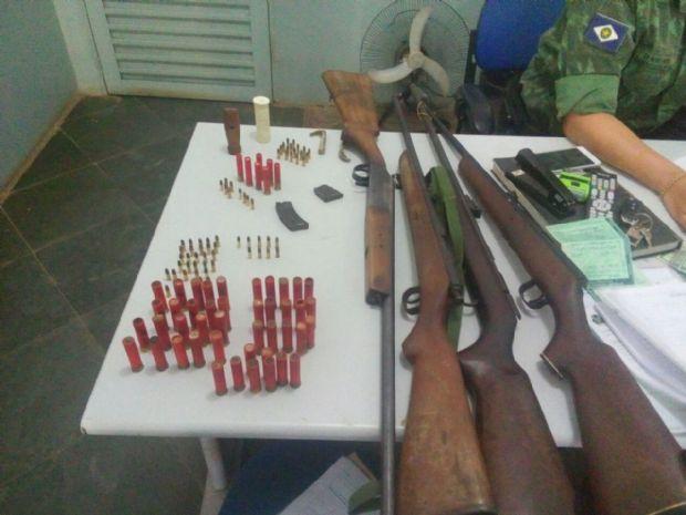 Guarda Municipal de VG e mais três são presos por posse de armas e animais silvestres recém-abatidos