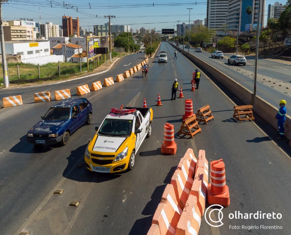 Veja rotas alternativas para tentar evitar trânsito com fechamento da avenida Jurumirim;  fotos e vídeos