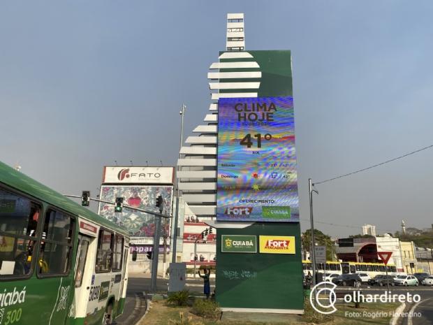 Temperatura volta a subir e pode atingir 41ºC em Cuiabá