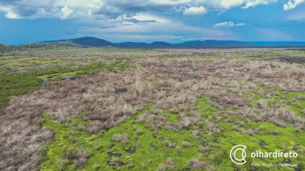 Rio Mutum: área que deveria estar alagada no período chuvoso está totalmente seca