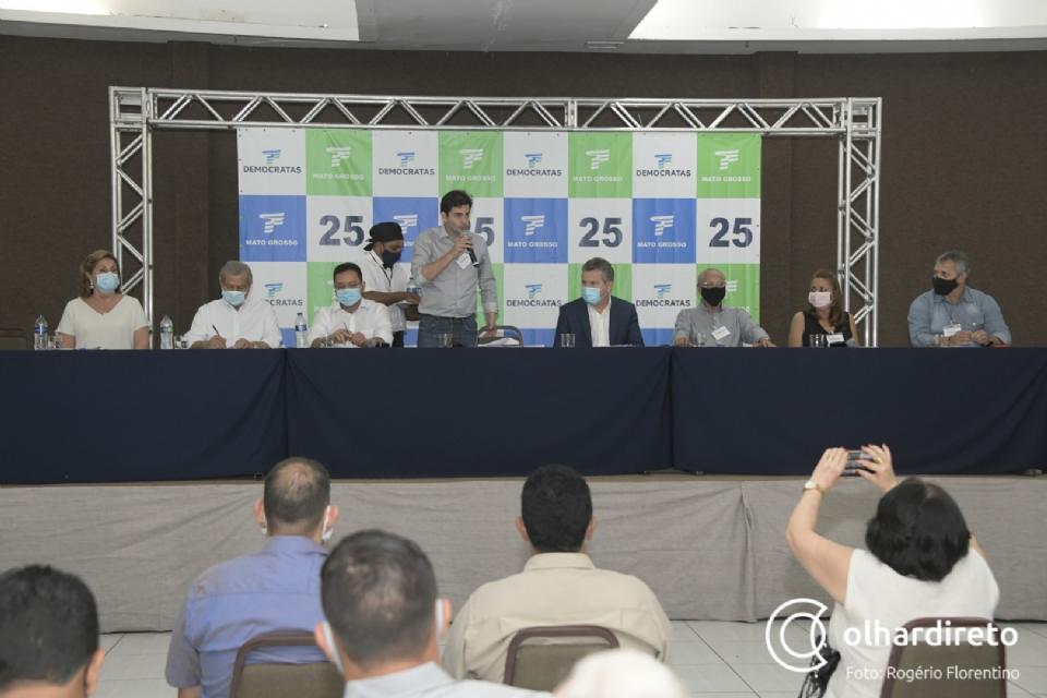 DEM espera fazer cinco deputados estaduais, dois federais e reeleger o governador Mauro Mendes