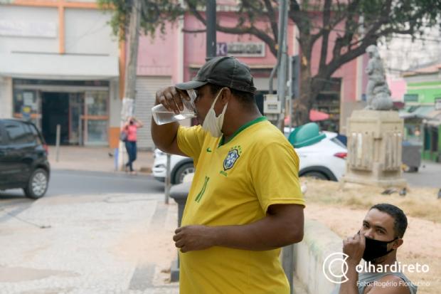 Cuiabá registra quase 44ºC na sombra e tem maior temperatura da história