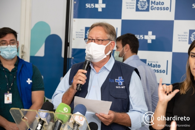 Secretário afirma que MT está à beira de colapso e já transfere pacientes por superlotação