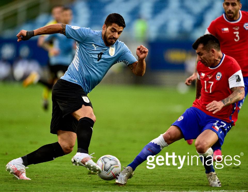 Veja fotos do jogo entre Uruguai e Chile pela Copa América na Arena Pantanal