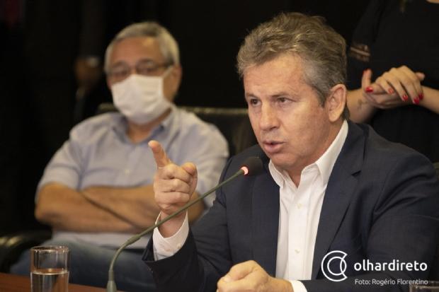 Mauro Mendes diz que quem defende o VLT é 'malandro ou desatualizado'
