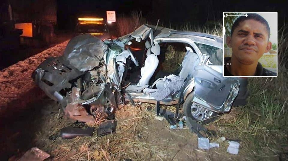 Em viagem com a família, homem de 46 anos bate veículo em carreta e morre na BR-63