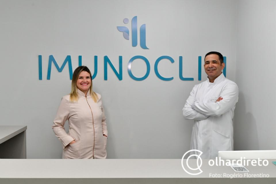 """Farmacêutica e enfermeiro abrem clínica de vacinas em Cuiabá: """"é o meio mais simples de prevenir doenças"""""""