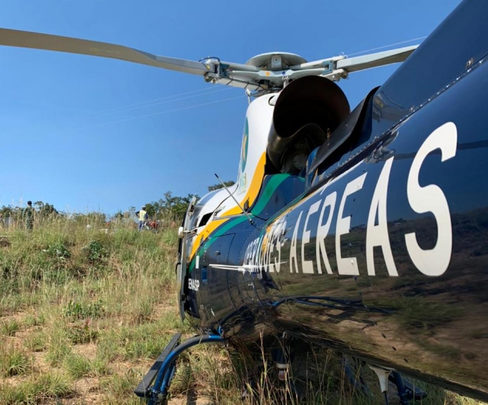 Motociclista sofre acidente na Estrada do Manso e é resgatado pelo Ciopaer